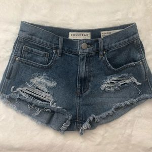 Bullhead (Pacsun) Distressed Denim High-Rise Short